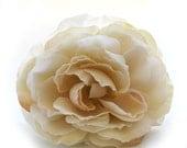 1 Jumbo Cream Ranunculus - Silk Flowers, Artificial Flowers, Flower Head