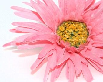Pink Gerbera Spider Daisy - Artificial Flowers, Silk Flower Heads - PRE-ORDER