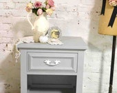 Painted Cottage Chic Modern Night Table