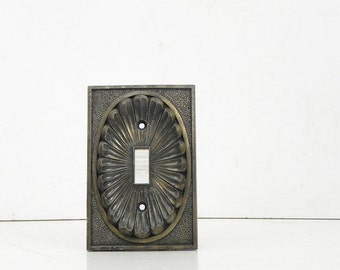 Salvaged Vintage Metal Switch Plate Switchplate Switch Cover