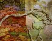 Silk tzitzit, tied to tallit