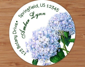 Hydrangeas - Address Labels or Stickers