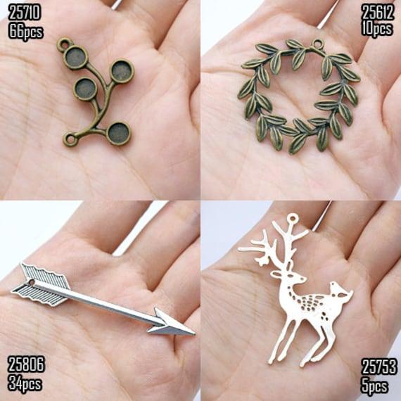 Big Sale-Antiqued Vintage Charms / Pendants (25710/25612/25806/25753)-Clearance Sale