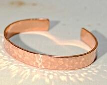 Hammered Copper Cuff Bracelet - BR672