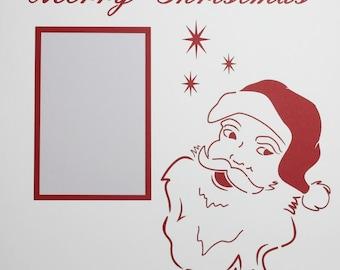 Merry Christmas with Santa  - 12x12 Overlay