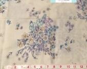 LAST YARD, Vintage Pastel Purple and Blue Floral Fabric, 1 yard