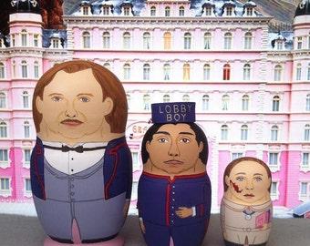 The Grand Budapest Hotel Mini Matryoshka Dolls
