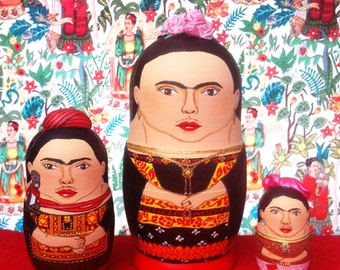 Frida Kahlo Matryoshka Dolls