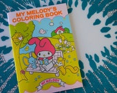 Vintage 1976 Sanrio My Melody Coloring Book with Stickers