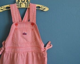 Vintage Girl's Izod Lacoste Denim Jumper - Size 6