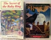 Halloween Reads: The Secret of the Ruby Ring by Yvonne MacGrory. The Ravenmaster's Secret by Elvira Woodruff. Mystery. Suspense. Intrigue.