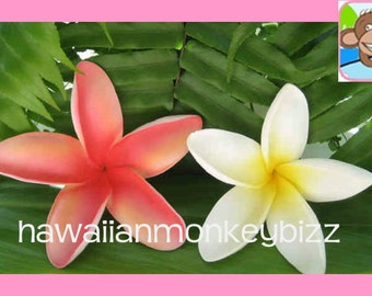 LARGE STARFISH PLUMERIAS - Foam Hair Picks or Clips - Your Choice of 1 . . .
