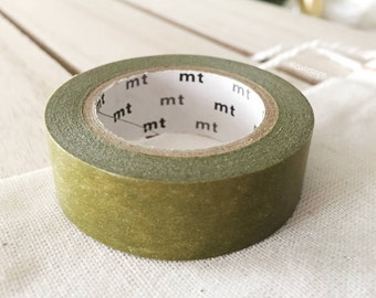 Solid Green Olive Washi Tape Japanese Green Olive masking tape (201) - PrettyTape