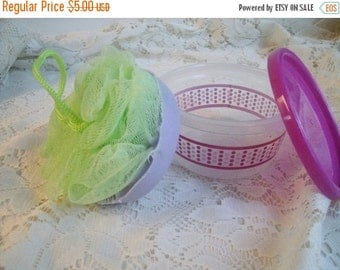 Summer 2106 Sale Lavender, Travel soap, Soap on a rope, Scrunchy soap to go