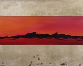 Original Abstract Painting Landscape Painting Southwest Art Abstract Landscape Mountain Painting Graphic Native American 12x36 Len Dickson
