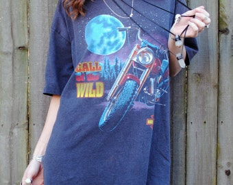 Call Of The Wild- Vintage 1992 Harley Davidson Shirt- Size XL