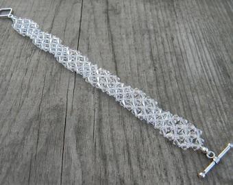 Art Deco Inspired Geometric Crystal Bracelet
