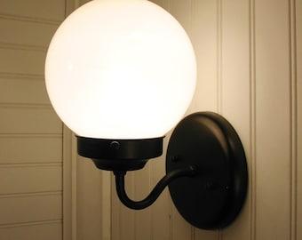 Port II. Globe SCONCE Light Fixture - Modern Wall Mount Lighting Farmhouse Bathroom Kitchen Lamp Pendant Chandelier Track Globe by LampGoods