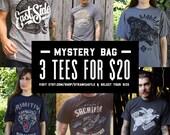 Mens Mystery Bag - 3 Tees