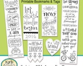 New Year New Beginnings Color-Your-Own Bookmarks  Bible Journaling Tags Tracers INSTANT DOWNLOAD Scripture Digital Printable Christian