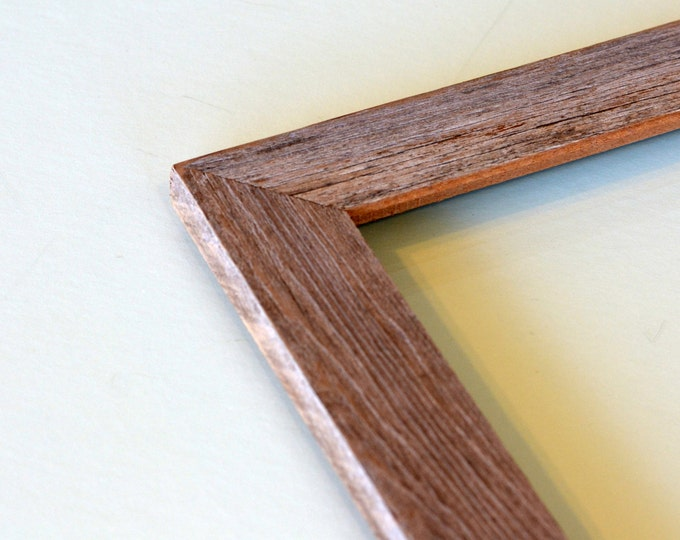 Rustic Natural Reclaimed Cedar Picture Frame - Choose your medium frame size: 8x8, 7x9, 8x10, 9x9, 8x12, 8.5x11 or A4 8.3 x 11.7""
