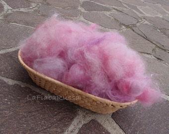 Lilac Alpaca suri combed Fleece, Textured Wool Filler, Photo Prop, Basket Filler, Photo Prop, Photography Prop, Bowl Filler by Lafiabarussa