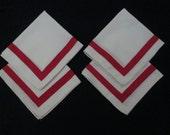 4 Retro Cotton Napkins