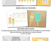 Popsicle Boy Party Invites (20 printed + envelopes)