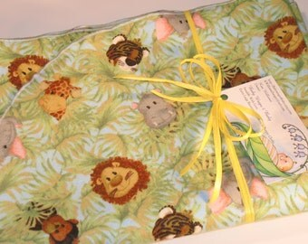 EXTRA LARGE - Jungle Safari Flannel Receiving Blanket, Flannel Receiving Blanket, Baby Blanket, Animal Baby Blanket, Infant Safari Blanket