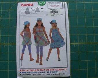 Burda 9608 Girls Dress Sizes 7-12 sewing pattern