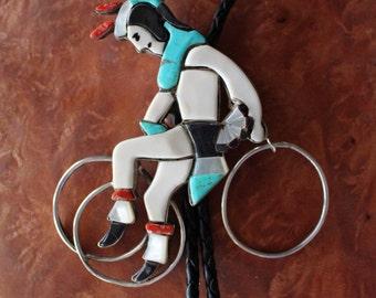 Navajo Bolo Tie Hoop Dancer Carol Kee