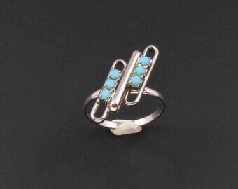 Faux Turquoise Ring, Southwestern Ring, Southwest Jewelry, Turquoise Rhinestone Ring