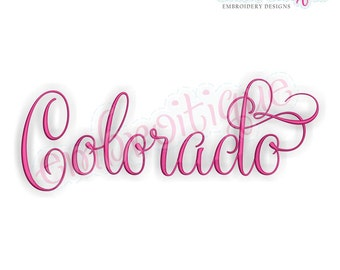 Colorado Fancy Calligraphy Script 3- Instant Download Machine embroidery design