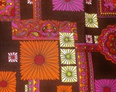 Vintage Hawaiian textile style Fabric • over 4 yards X 43 inches
