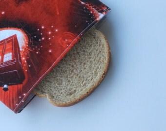 Tardis  & Dalek Reusable Sandwich Bag/Doctor Who Reusable Sandwich Bag/Police Box Sandwich Bag