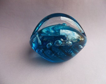 Hand Blown Art Glass Business Card Holder