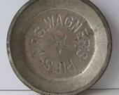 Antique Mrs. Wagner's Metal Pie Plate, Vintage Kitchen, Rustic Farm House, Antique Cooking Pan, Shabby Cottage, Kitchen, Farm House Kitchen