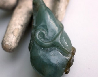 Chinese Carved Jade Fruit Pendant