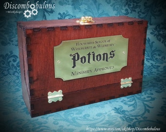 Hogwarts Potion Box for witches and wizards, Gryffindor, Slytherin, Hufflepuff, Ravenclaw, Hogwarts