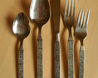12 Piece Vintage Stainless Flatware ORLEANS SILVER