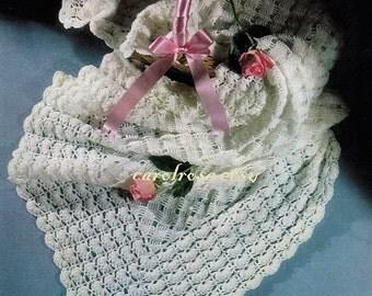 Crochet Pattern - Vintage Pattern for Crochet Baby Shawl Heirloom - Immediate download