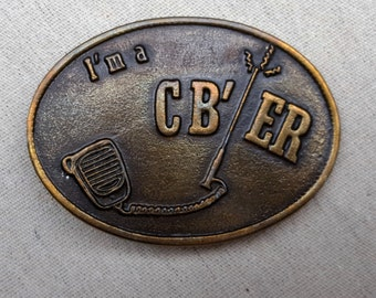 1970's, brass, CB belt buckle