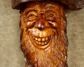 Unique wood carving of a wood spirit tree spirit wooden Sculpture