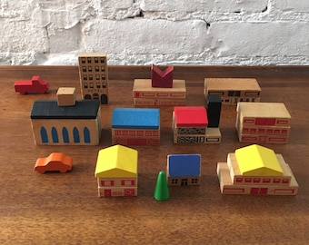 Antique Wooden Neighborhood Toys/Decorations