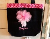 Personalized monogram dance bag//ballet dance bag/tote bag