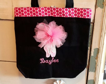 Dance bag,personalized monogrammed dance bag,ballet bag