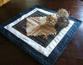 Log Cabin Table Topper or Wall Hanging (Item # 96)