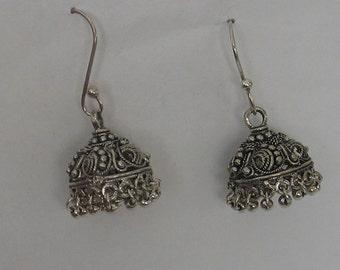 Fun Tassel Basket Hat Chandelier Sterling Silver Earrings