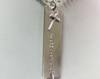 Faith Tag Charm Necklace