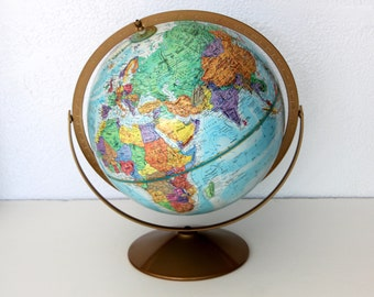 Replogle World Globe / 1960s Replogle Globe